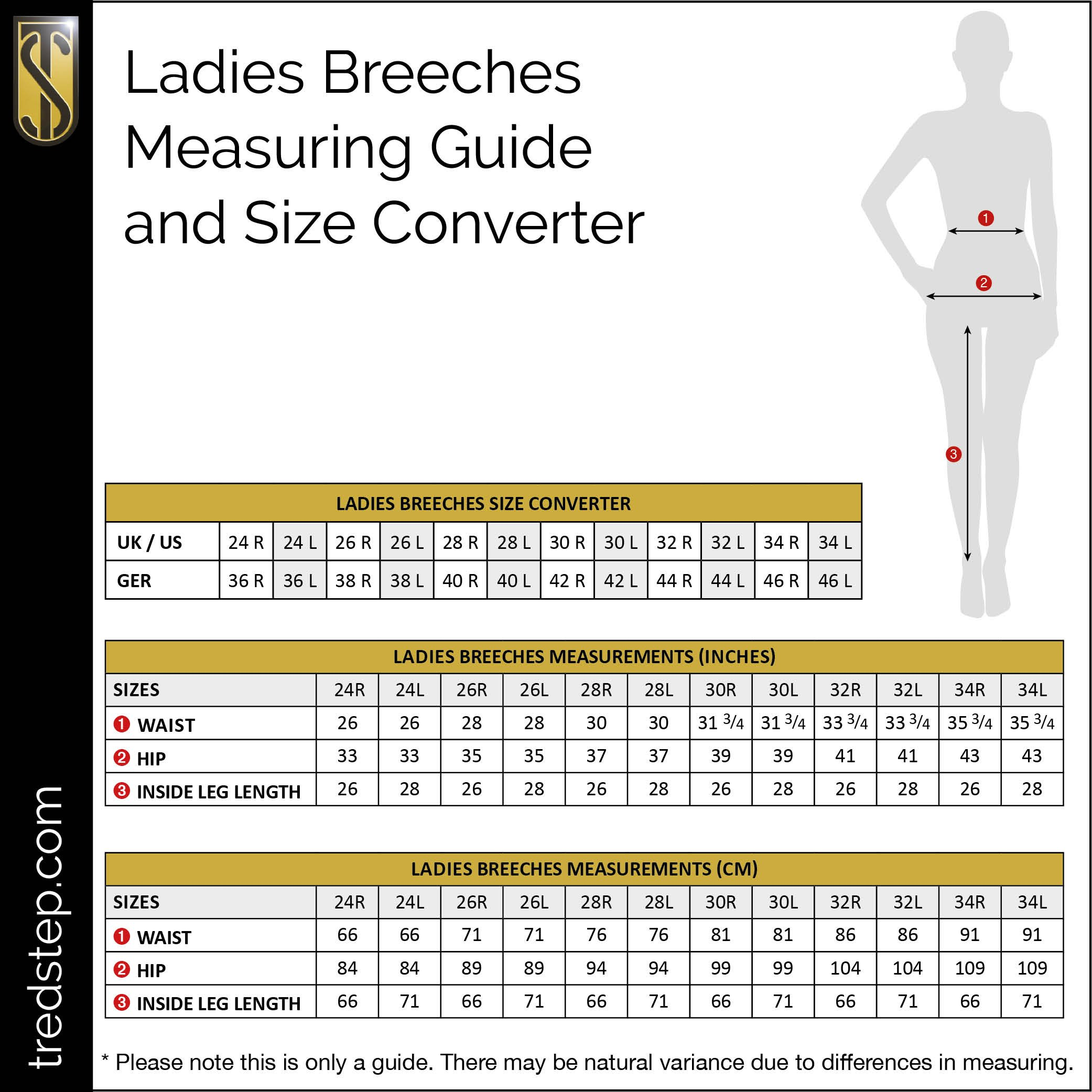 Irideon Ladies Pembrook KP Breech 32 Tan